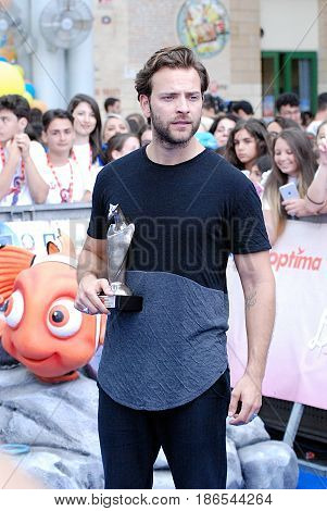 Giffoni Valle Piana Sa Italy - July 15 2016 : Alessandro Borghi at Giffoni Film Festival 2016 - on July 15 2016 in Giffoni Valle Piana Italy