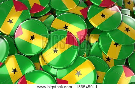 Sao Tome And Principe Badges Background