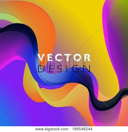 Abstract smooth color wave vector. Curve flow purple motion illustration. For poster, flyer design. Mixing color. Colored fluid poster