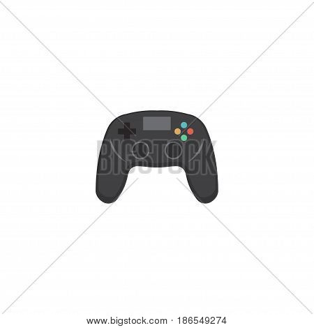 Flat Controller Element. Vector Illustration Of Flat Joystick Isolated On Clean Background. Can Be Used As Joystick, Controller And Game Symbols.