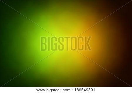 Abstract gradient background with green, yellow and orange colors