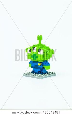 Little Green Man Micro Blocks