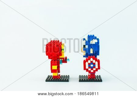 Ironman And Captain America Micro Blocks
