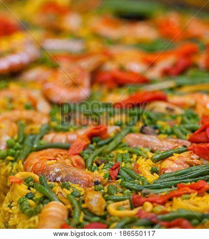 Large Dish Of Paella