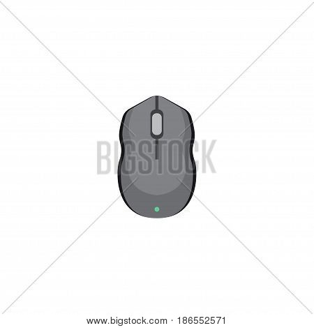 Flat Mouse Element. Vector Illustration Of Flat Control Device Isolated On Clean Background. Can Be Used As Mouse, Computer And Control Symbols.