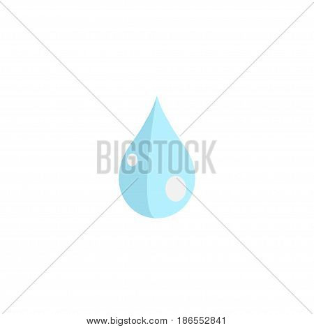 Flat Drop Element. Vector Illustration Of Flat Water Isolated On Clean Background. Can Be Used As Water, Drop And Blob Symbols.