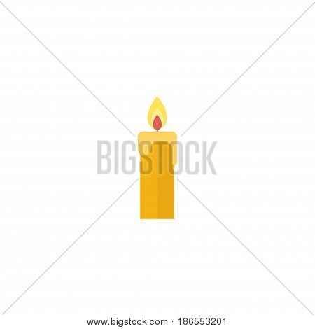 Flat Candle Element. Vector Illustration Of Flat Fire Wax Isolated On Clean Background. Can Be Used As Candle, Fire And Wax Symbols.