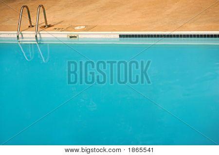 Empty Blue Swimming Pool