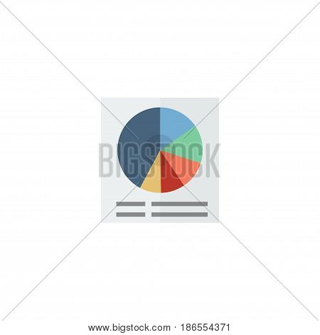 Flat Circle Chart Element. Vector Illustration Of Flat Pie Bar Isolated On Clean Background. Can Be Used As Pie, Circle And Chart Symbols.