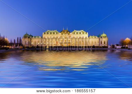 Palace Belvedere in Vienna Austria - cityscape architecture background