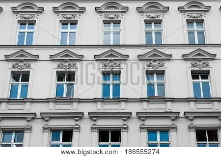 Old Residential Building Facade - Restored Facade