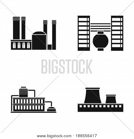 Industry, production.Factory set collection icons in black style vector symbol stock illustration .