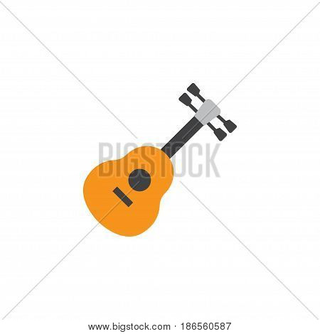 Guitar Flat Icon Symbol. Premium Quality Isolated Acoustic Element In Trendy Style.
