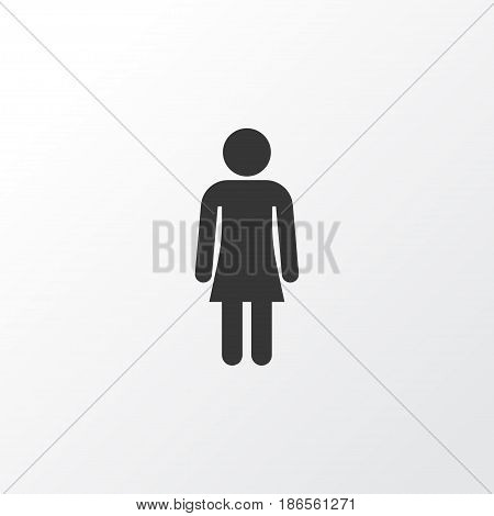 Gentlewoman Icon Symbol. Premium Quality Isolated Female Element In Trendy Style.