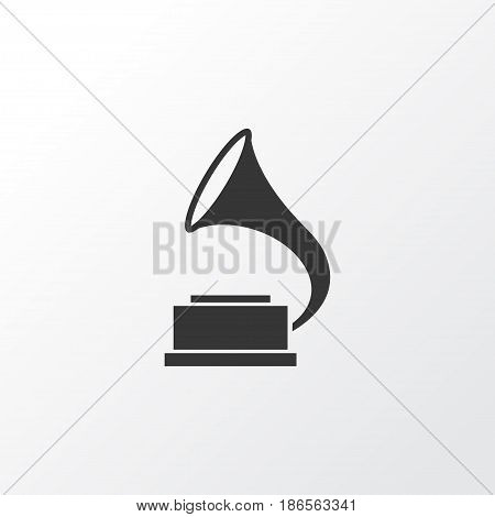 Gramophone Icon Symbol. Premium Quality Isolated Phonograph Element In Trendy Style.