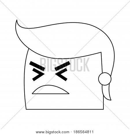 angry man cartoon icon image vector illustration design  single black line