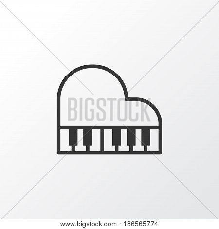 Piano Icon Symbol. Premium Quality Isolated Octave Element In Trendy Style.