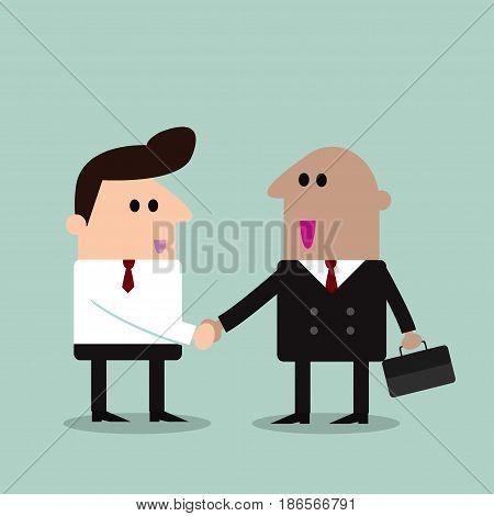 business partners handshaking, Hipster Businessman shaking hands ,businessman, shaking handsVector Illustration
