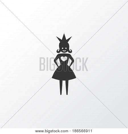 Princess Icon Symbol. Premium Quality Isolated Queen Element In Trendy Style.