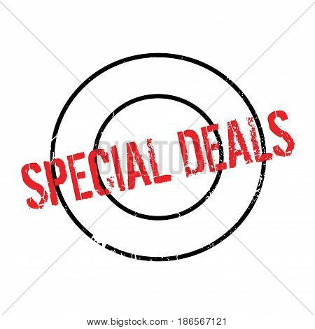Special Deals rubber stamp. Grunge design with dust scratches. Effects can be easily removed for a clean, crisp look. Color is easily changed.