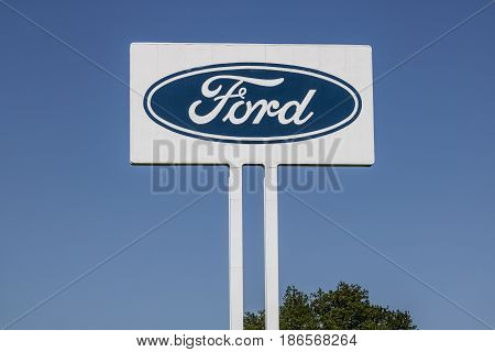 Sharonville - Circa May 2017: Ford Logo and signage at the Sharonville Transmission Plant. This plant opened in 1958 VI