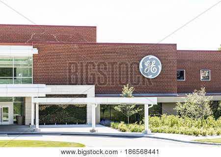 Cincinnati - Circa May 2017: General Electric Aviation Facility. GE Aviation is a Provider of GE90 and LEAP Jet Engines XIII