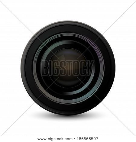 Vector modern camera icon on white background