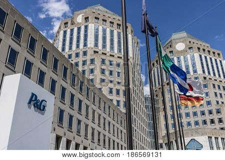 Cincinnati - Circa May 2017: Procter & Gamble Corporate Headquarters. P&G is an American Multinational Consumer Goods Company IX