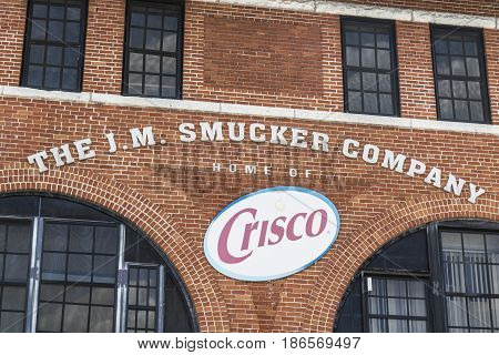 Cincinnati - Circa May 2017: J. M. Smucker Company factory Smuckers manufactures jams jellies and a variety of food items I