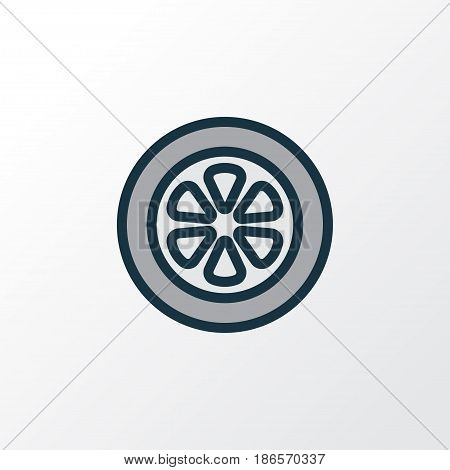Wheel Colorful Outline Symbol. Premium Quality Isolated Drive  Element In Trendy Style.