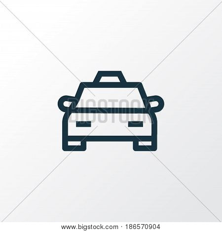 Cab Outline Symbol. Premium Quality Isolated Taxi Element In Trendy Style.