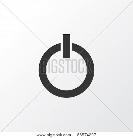 Start Button Icon Symbol. Premium Quality Isolated Power On Element In Trendy Style.