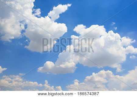Beautiful cloud with blue sky natural background.