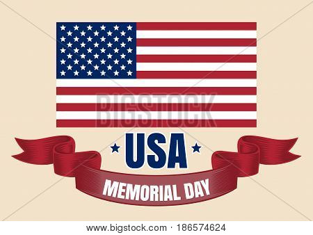 Happy Memorial Day. Memorial Day card. Happy Memorial Day background template. Vector illustration