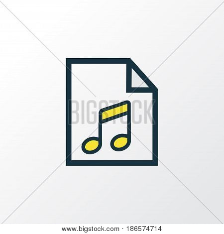 Soundtrack Colorful Outline Symbol. Premium Quality Isolated List Element In Trendy Style.