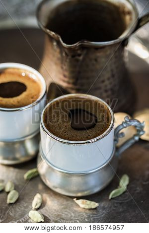 Turkish Coffee In Authentic Cups