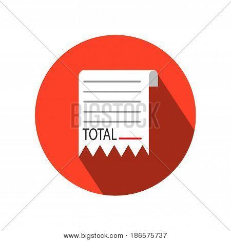 Receipt icon.Vector receipt icons (receipt),Receipt vector illustration