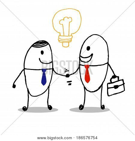 business partners handshaking , business partners handshaking Business people shaking handsStock Vector art