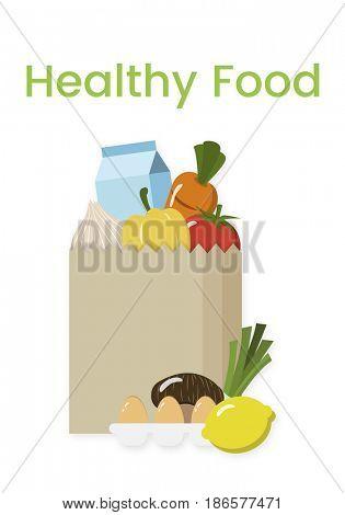 Buy Fresh Food Marketplace Supermarket Shopping Graphic
