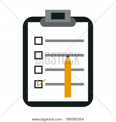 clipboard with checklist icon image vector illustration design