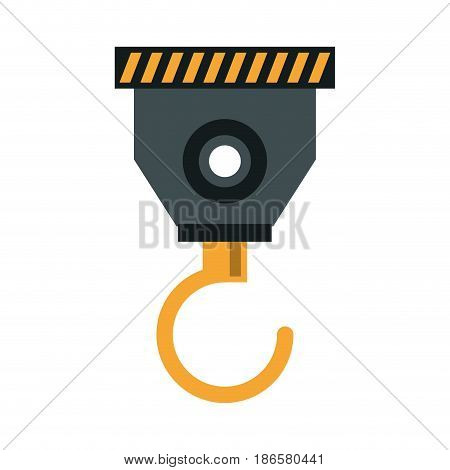 crane hook icon image vector illustration design
