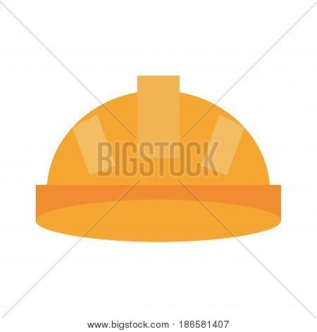 helmet industrial security icon image vector illustration design