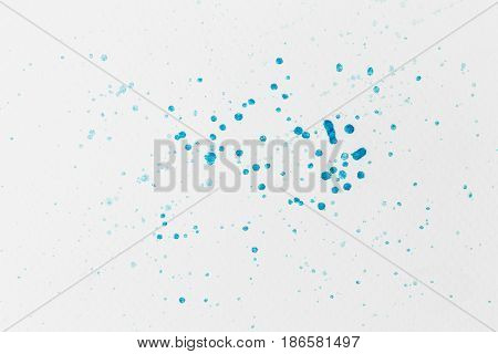 Abstract watercolor background hand drawn blue drop splatter stain art paint