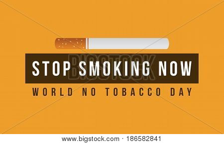 Illustration no tobacco day background collection stock