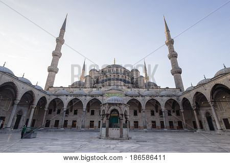 Istanbul's Blue Mosque in early morning hours