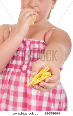 Girl Offering Chips