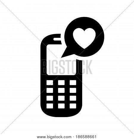 Phone. Black icon isolated on white background