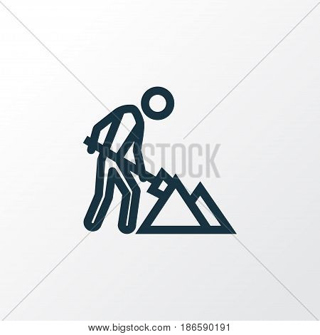 Maintenance Outline Symbol. Premium Quality Isolated Construction Works Element In Trendy Style.