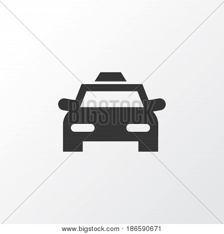 Taxi Icon Symbol. Premium Quality Isolated Cab Element In Trendy Style.