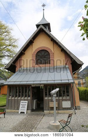MEIRINGIEN, SWITZERLAND - MAY 6, 2017: The Sherlock Holmes Museum in Meiringen, Switzerland